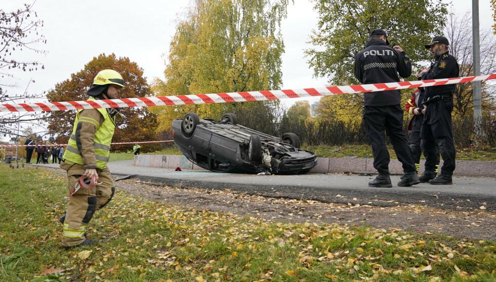 ULYKKE: Mannen var i bilulykke før han stjal ambulansen. Foto: Håkon Mosvold Larsen / NTB
