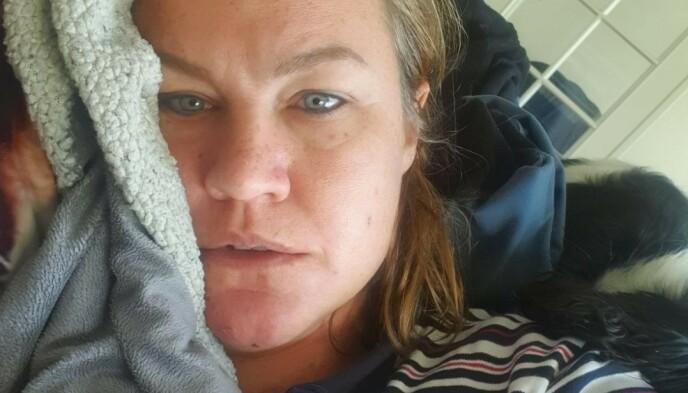 UTMATTET: Emma Mårtensson har strevd med sin egen helse etter et år preget av covid-19. Foto: Privat