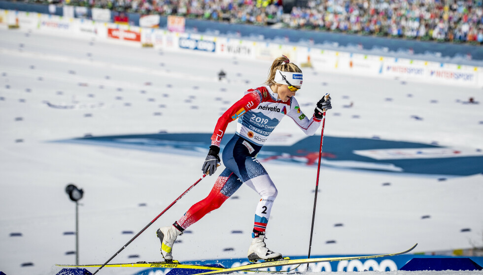 I AKSJON: Therese Johaug under VM-tremila. Foto: Bjørn Langsem