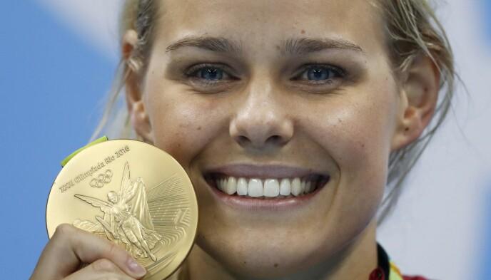 GULL: Pernille Blume tok gull under OL i Rio i 2016. Foto: NTB