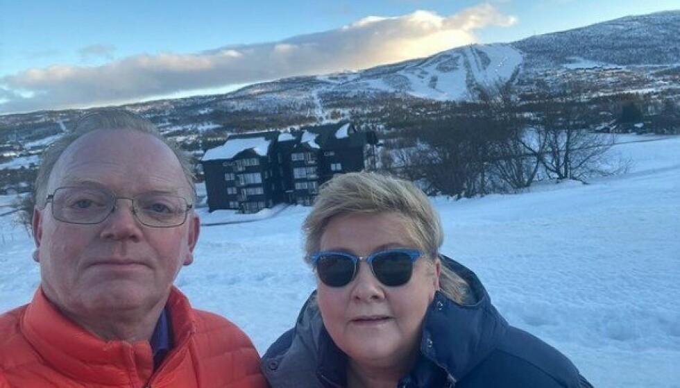 ULIKT: Ektemann Sindre Finnes fikk ikke forelegg, mens statsminister Erna Solberg fikk 20 000 kroner i bot - nettopp fordi hun er statsminister.