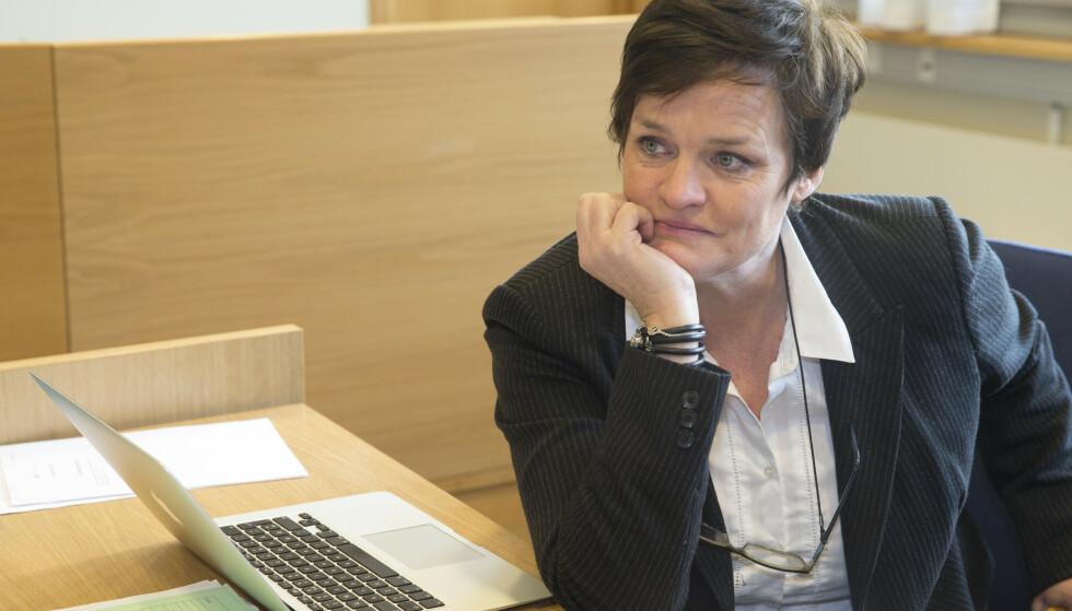 - SVIR PÅ PUNGEN: - 20 000 er mye penger for alle, sier Mette Yvonne Larsen Foto: Terje Pedersen / NTB
