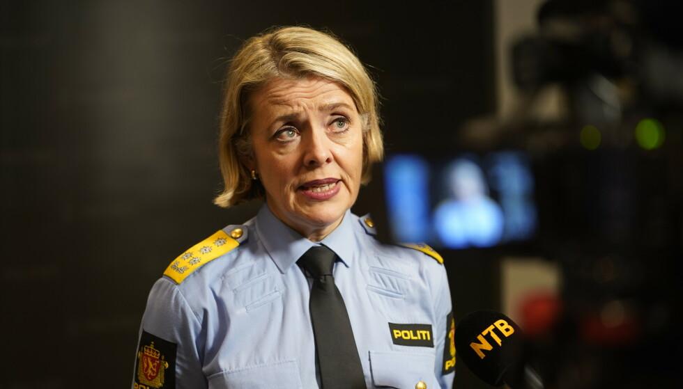 FÅTT BREV: Politidirektør Benedicte Bjørnland har fått brev fra riksadvokaten med en klargjøring av politiets adgang til maktmidler i mindre narkotikasaker. Foto: Heiko Junge / NTB