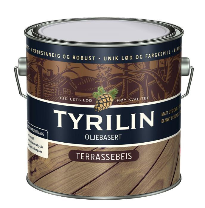 FINN DIN FAVORITT: Tyrilin Terrassebeis føres i de fleste norske byggevare- og fargehandlere. Se tyrilin.no for oversikt over hvilke kjeder som fører Tyrilin.