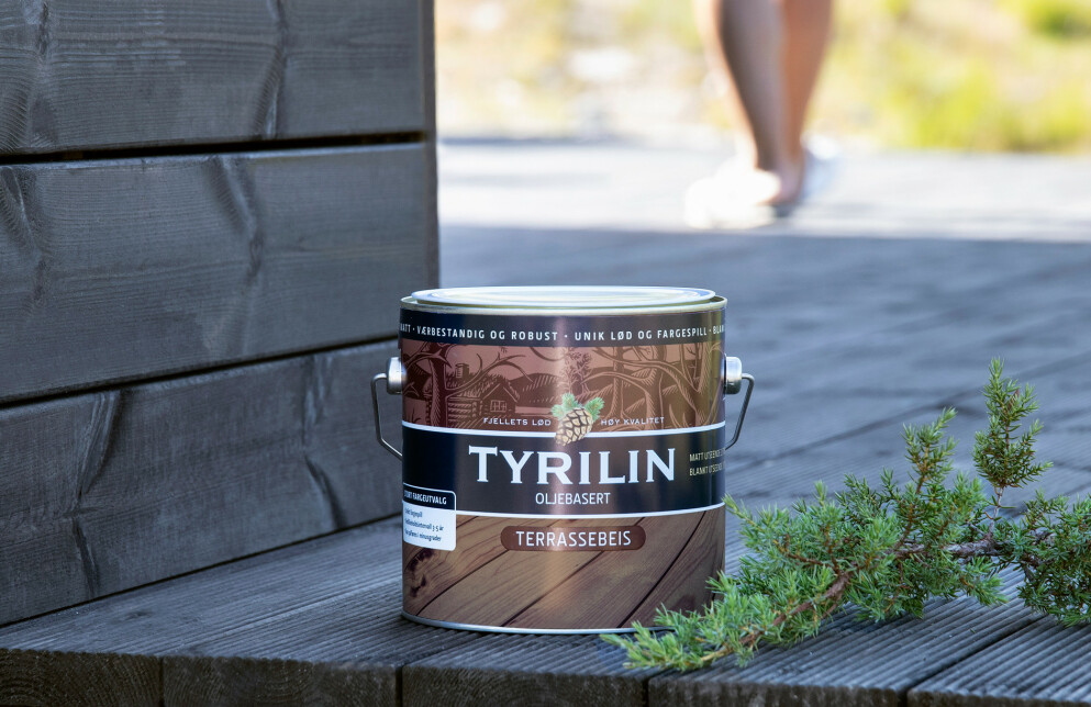 Nye, vakre farger i Tyrilin Terrassebeis