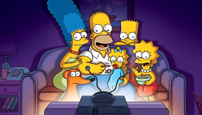 INSPIRERT AV EGEN FAMILIE: Navnene på nesten hele Simpson-familien har Matt Groening henta fra virkeligheten. Unntaket er rampegutten Bart Simpson. Foto: Disney+ / NTB.