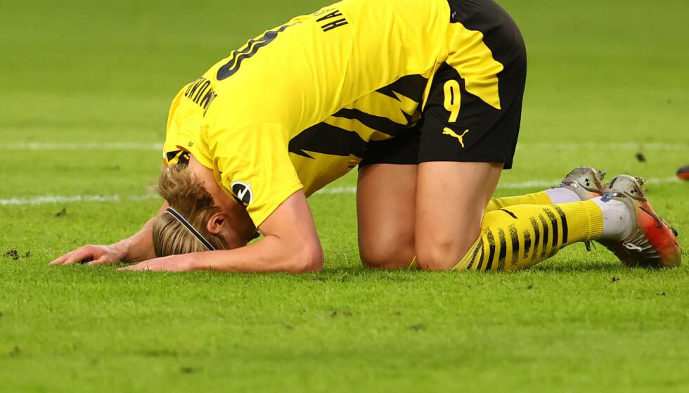 IKKE MÅL: Erling Braut Haaland noterte seg for en assist, men scoringen uteble nok en gang. Foto: NTB
