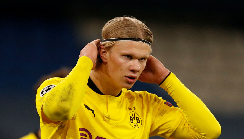 HURTIG: Erling Braut Haaland er en av Bundesligas raskeste spillere. Foto: NTB