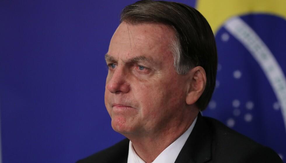 ANGRIPES: Brasils president Jair Bolsonaro har fått sterk kritikk for sin håndtering av coronapandemien. Foto: NTB
