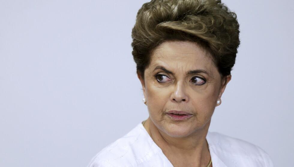 NÅDELØS: Brasils tidligere president Dilma Rousseff kommer med et nådeløst angrep mot sin etterfølger. Foto: NTB