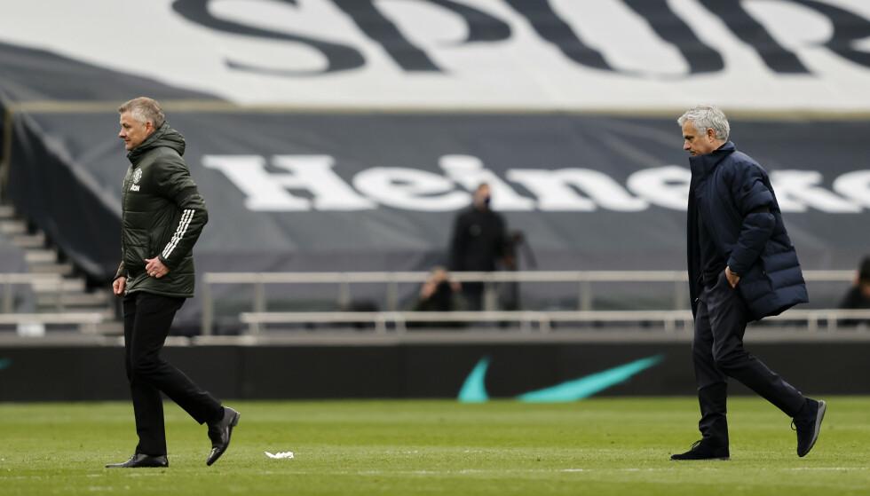 DÅRLIG STEMNING: Ole Gunnar Solskjær må tåle sterk kritikk fra José Mourinho. Foto: NTB