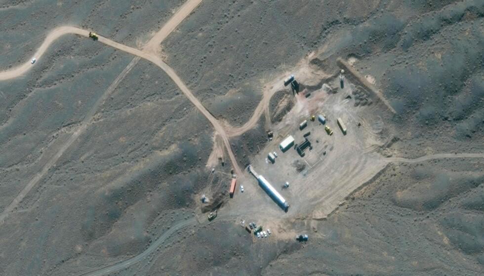 ATOMANLEGG: Et satellittbilde viser Irans atomanlegg i Natanz. Foto: Satellite image ©2021 Maxar Technologies / AFP