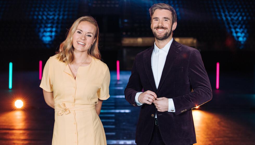SIDEN 2018: Helene Olafsen og Stian Blipp har ledet «Senkveld» de siste åra. Foto: TV 2