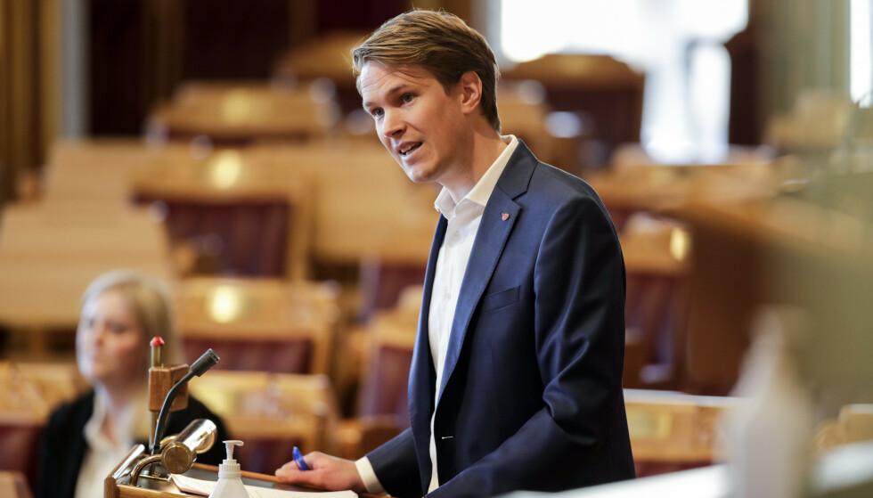 - PINLIG: Torstein Tvedt Solberg er ikke imponert over regjeringens opptreden rundt fremtidsfaget. Foto: Vidar Ruud / NTB