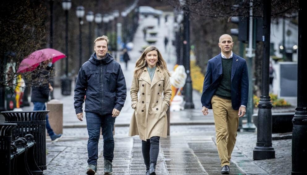 STRENGE: Bård Ludvig Thorheim, Anna Irene Molberg og Mahmoud Fahramand vil straffe alvorlig kriminelle langt hardere.