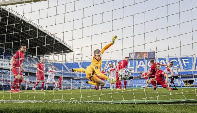 TAP: Rune Almenning Jarstein og Norge tapte 0-3 for Tyrkia 27. mars. Foto: Geir Olsen / NTB