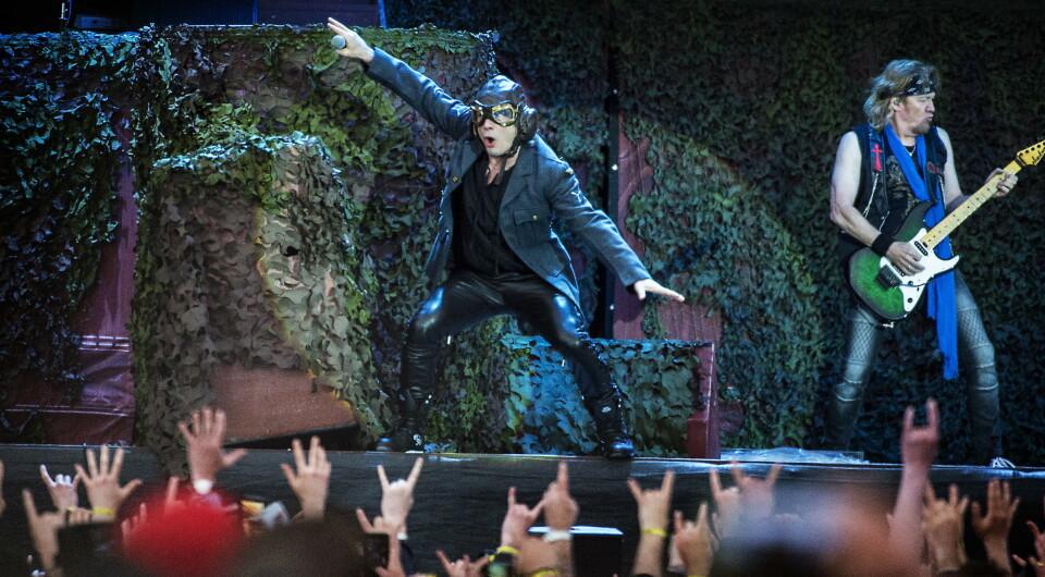 TONS OF ROCK: Festivalen annonserer i dag at Iron Maiden blir hovednavn på Ekebergsletta i 2022. Samtidig melder festivalen at det ikke blir noe av årets utgave. Her fra Trondheim Rocks i 2018 Foto: Hans Arne Vedlog / Dagbladet
