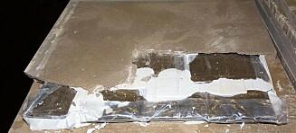 Rekordbeslag av hasj i falske marmorplater