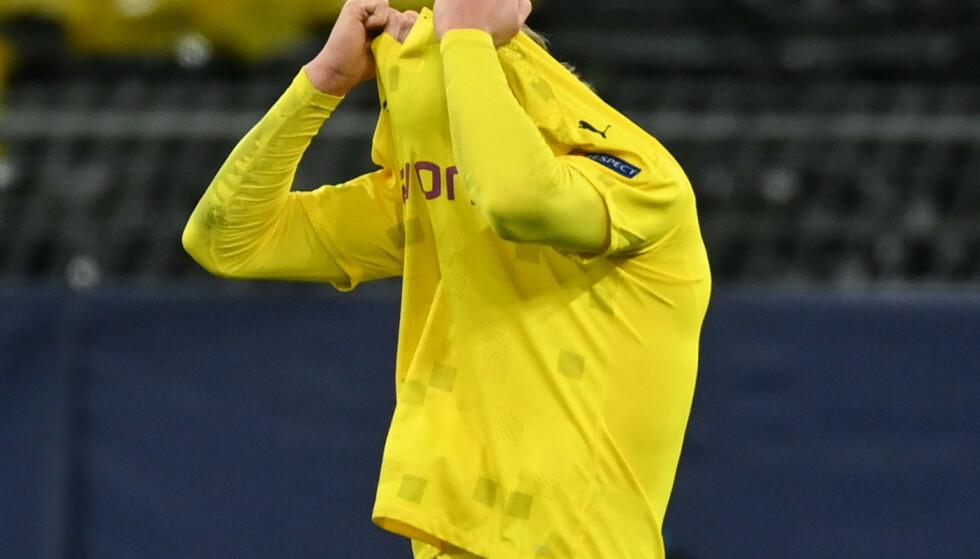 MER ENN BRA NOK: Skuffende slutt på Champions League. Men Erling Braut Haaland er egentlig bedre enn noen gang. FOTO: REUTERS/Ina Fassbender