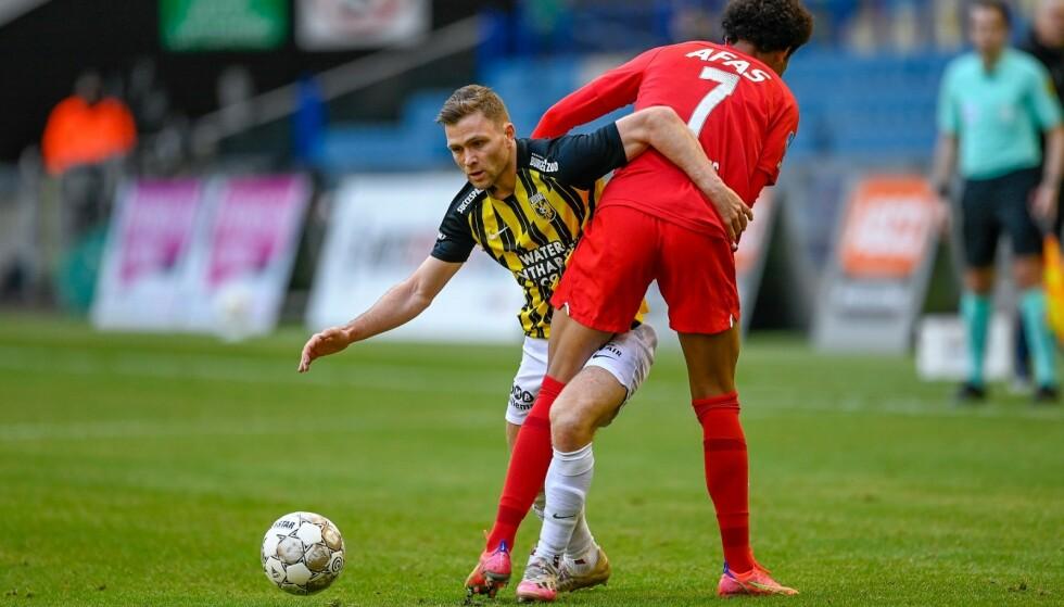 FAST PÅ LAGET: Sondre Tronstad har gjort sakene bra i Vitesse siden overgangen fra Haugesund. Foto: Vitesse