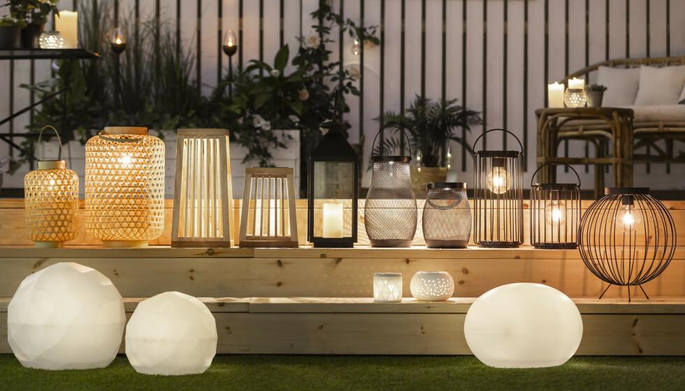 MYS MED LYS: Det blir en ekstra koselig atmosfære når man tenner lys på kveldstid. Uansett hvilken lampestil du foretrekker!