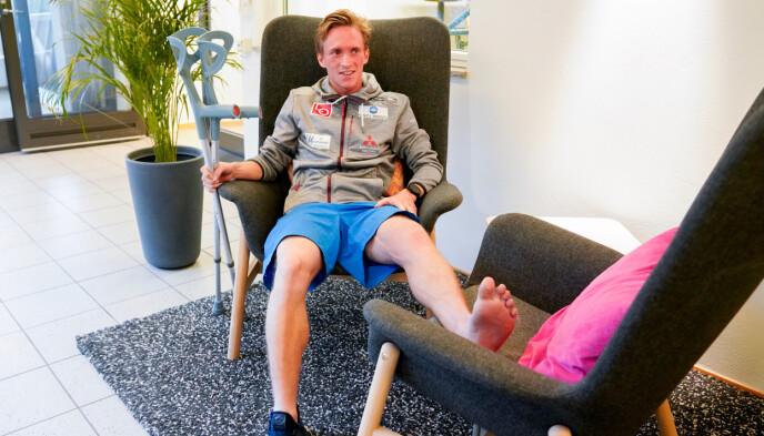 SKADD: I juli 2019 gikk det galt på plast i polske Wisla. Anders Fannemel ble utredet på Olympiatoppen. Foto: NTB