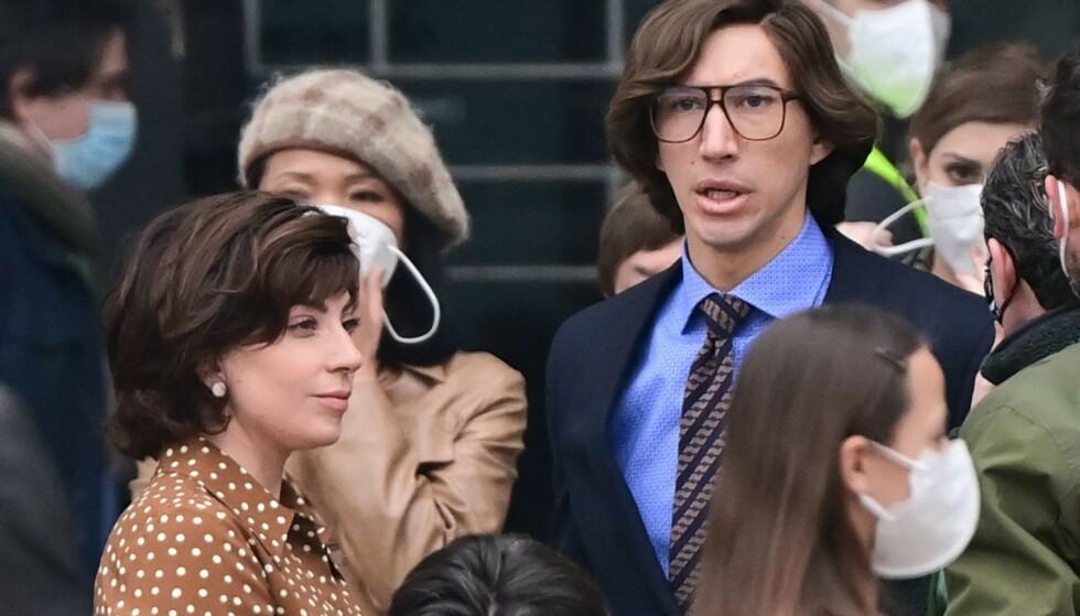 SPILLER PAR: Lady Gaga og Adam Driver som Patrizia Reggiani og Mauritzio Gucci. Foto: NTB