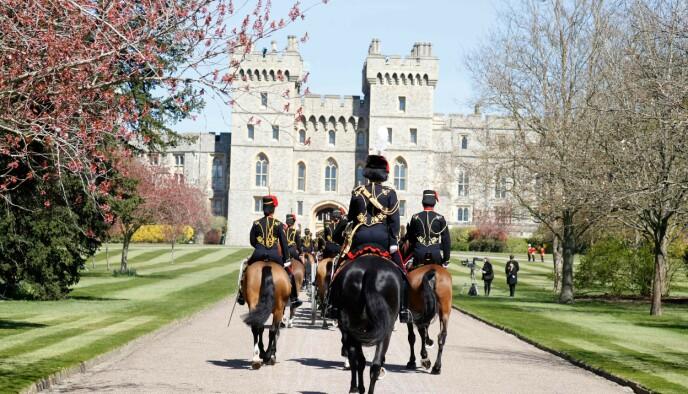 BEGRAVELSE: Alt er klart til kongelig begravelse i Windsor lørdag ettermiddag. Foto: Phil Noble / AFP / NTB