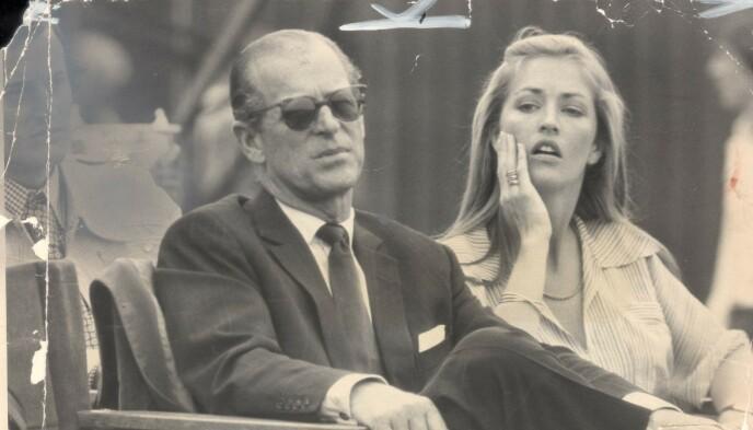 1975: Prins Philip og Penelope Knatchbull møttes for første gang under en polokamp i 1975. Lørdag deltar hun i begravelsen. Foto: Paul Fievez / Daily Mail / REX / Shutterstock / NTB