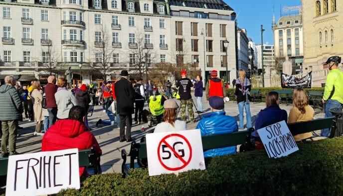 TILBAKE: Svein Østvik holdt appell på demonstrasjonen utenfor Stortinget. Foto: Brage Lie Jor / Dagbladet