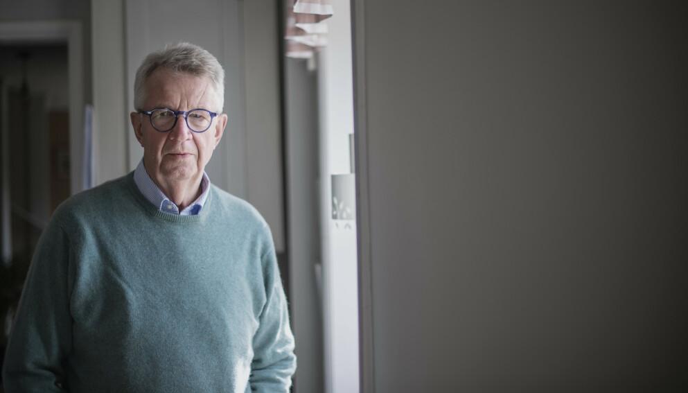 SVENSK EKSPERT: Johan Giesecke er tidligere statsepidemiolog, og har vært en forkjemper for den svenske coronastrategien. Foto: Johanna Lundberg / Bildbyrån.
