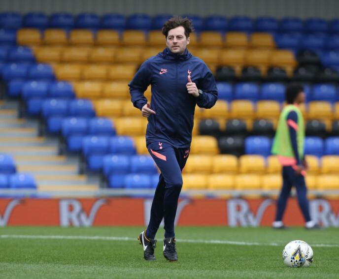 NY SJEF: Ryan Mason (29) skal midlertidig lede Tottenham. Foto: NTB