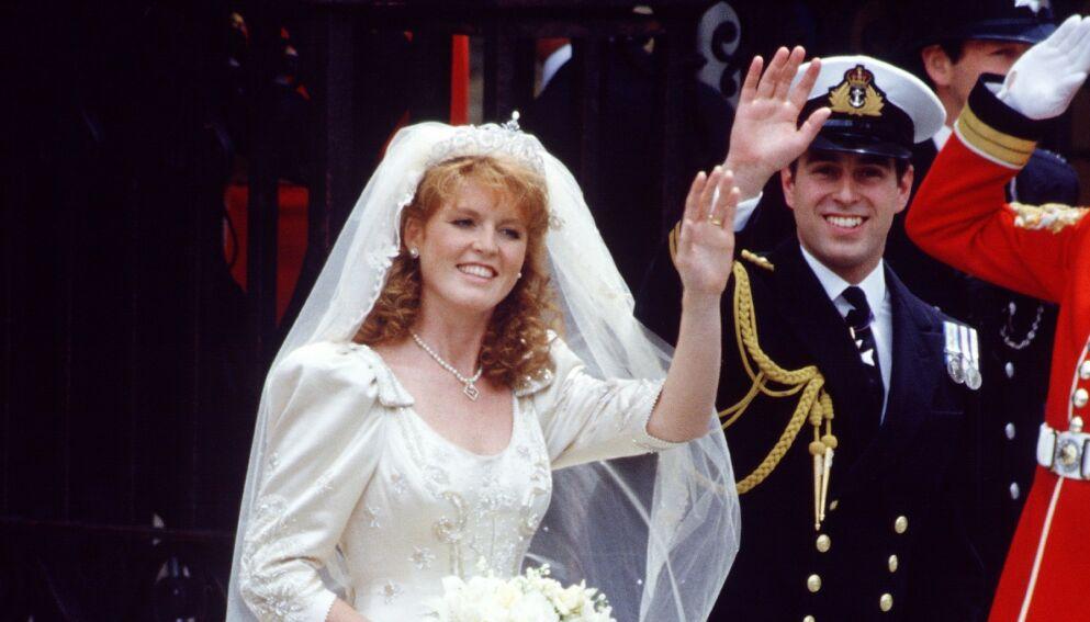 IKKE TIL STEDE: Sarah Ferguson giftet seg med prins Andrew i 1986. Paret skilte lag ti år seinere, men har bevart et spesielt forhold i etterkant. Førstnevnte er vanligvis også å se i forbindelse med kongelige tilstelninger. Foto: REX/NTB