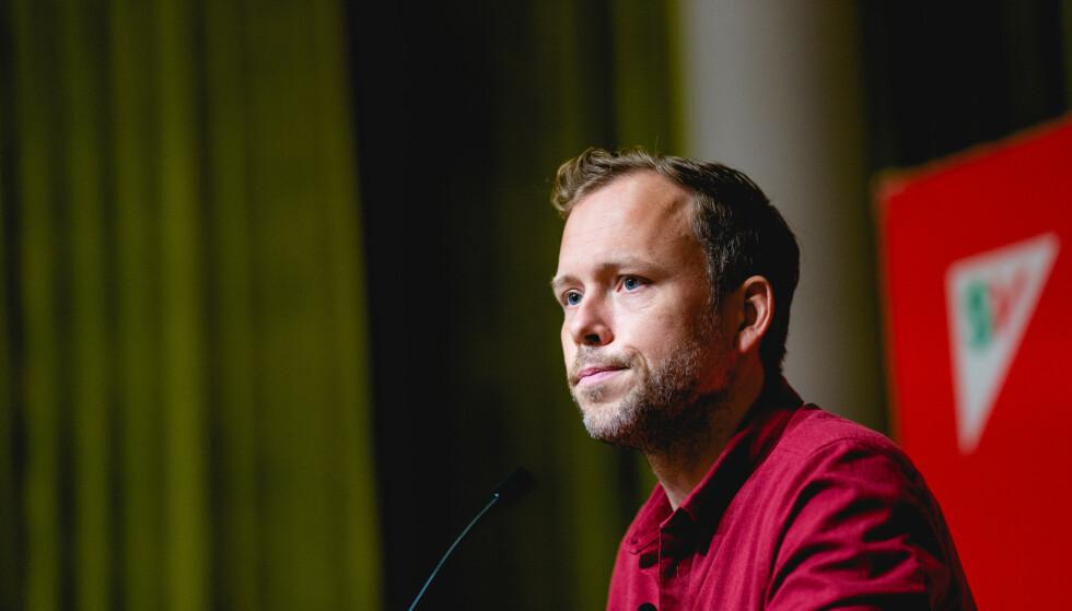 MINDRE BASTANT: SV-leder Audun Lysbakken vil ikke stille ufravikelige krav til Ap og Sp. Foto: Stian Lysberg Solum / NTB
