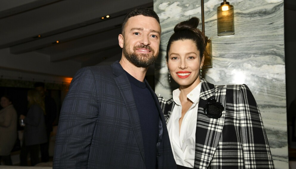 TOBARNSFORELDRE: Justin Timberlake og Jessica Biel har hendene fulle om dagen. Foto: Rodin Eckenroth/Getty Images/AFP/NTB