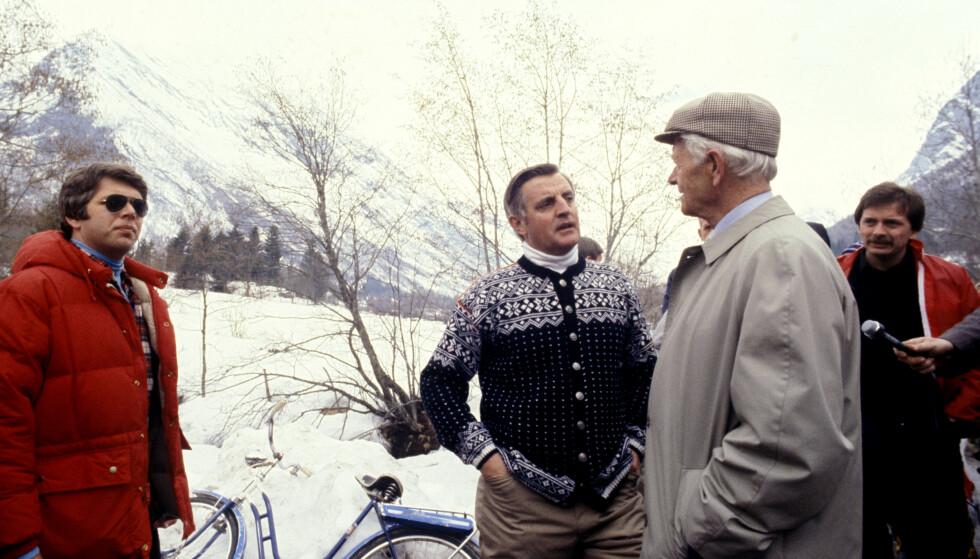 I NORGE: Walter Mondale i Mundal i Sogn som visepresident i 1979. Foto: NTB / NTB