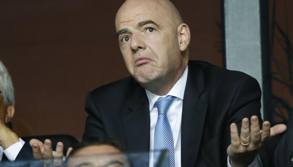 REAGERER: FIFA-president: Gianni Infantino. Foto: NTB