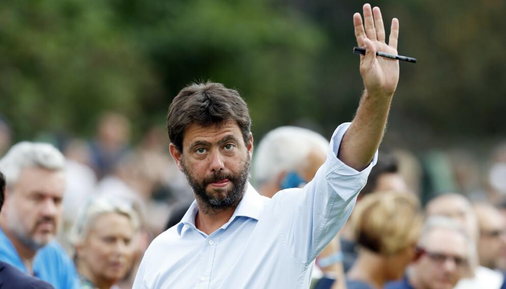 KRITISERES: Juventus-formann Andrea Agnelli. Foto: Antonio Calanni/NTB