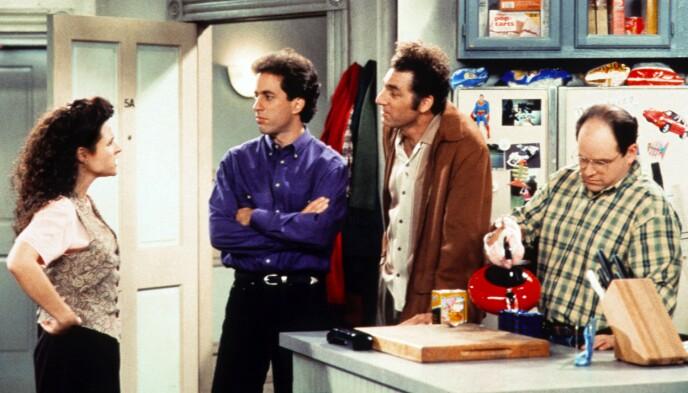 ETTERTRAKTEDE: I 2019 kom nyheten om at Netflix bladde opp et milliardbeløp for rettighetene til «Seinfeld» fra 2021. Det betyr gode penger i kassen for Julia Louis-Dreyfus, Jerry Seinfeld, Michael Richards, og Jason Alexander. Foto: Shutterstock / NTB.