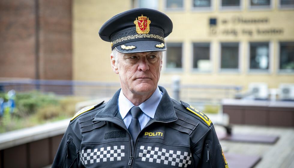 TØNSBERG: Stasjonssjef Øystein Holt ved Tønsberg politistasjon. Foto: Bjørn Langsem / Dagbladet