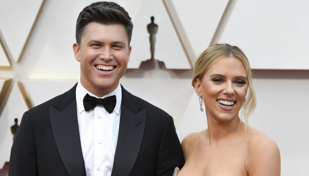 LYKKELIG GIFT: Colin Jost og Scarlett Johansson runder et halvt år som ektepar. Foto: ACE Pictures/ Shutterstock/ NTB