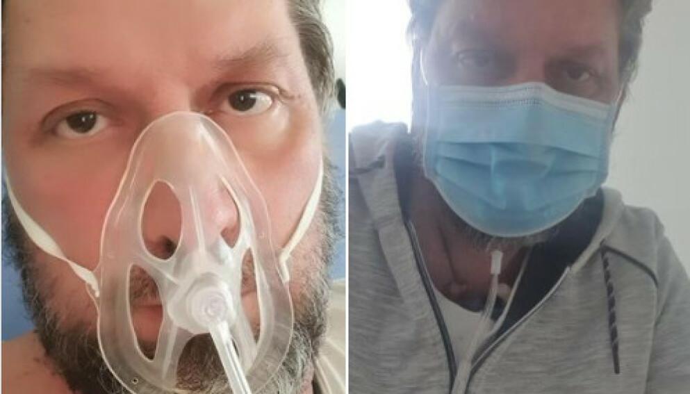 OVERLEVDE: Øystein beskriver coronainfeksjonen som sitt livs verste mareritt. - Det var nummeret før, og jeg var redd, veldig redd, sier han. Foto: Privat