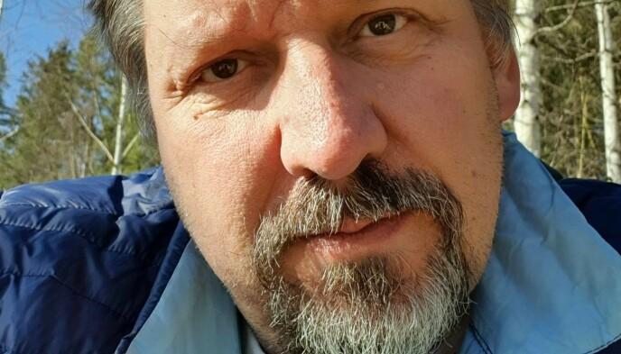 UTSKREVET: Øystein er skrevet ut fra sykehuset, men forteller at han fortsatt er preget etter coronainfeksjonen - både fysisk og mentalt. Foto: privat