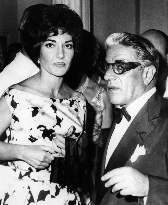 AFFÆRE: Onassis hadde en affære med operasangeren Maria Callas. Det ble kroken på døra for ekteskapet med Athina Onassis. Her er Aristoteles og Maria i 1960. Foto: Granger / REX / NTB