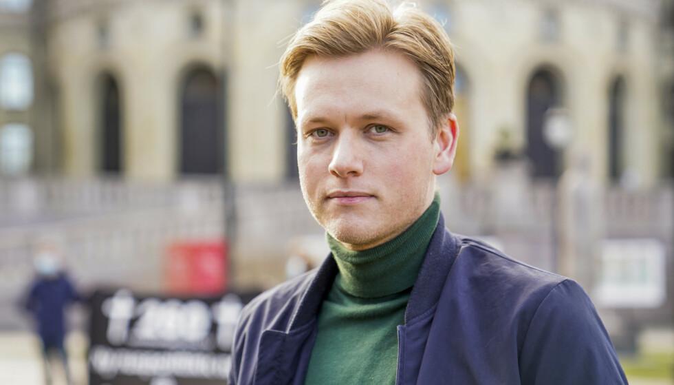 NORGE-BRO: Unge Venstre-leder Sondre Hansmark vil at Norge skal ta imot syrerne som har mistet oppholdstillatelse i Danmark. Foto: Håkon Mosvold Larsen / NTB