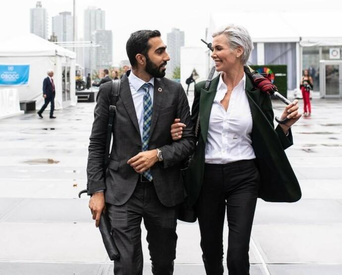 PARTNERE: Usman Mushtaq og Gunhild Stordalen startet EAT sammen. Foto: Privat