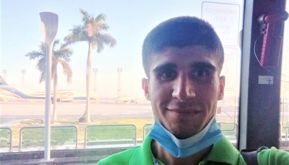 FANGET: I fire år har syriske Mohammed Aisha vært fanget på spøkelsesskipet MV Aman i den egyptiske Suezbukta. Nå har han fått lov til å forlate skipet og vende hjem til Syria. Foto: ITF / Privat