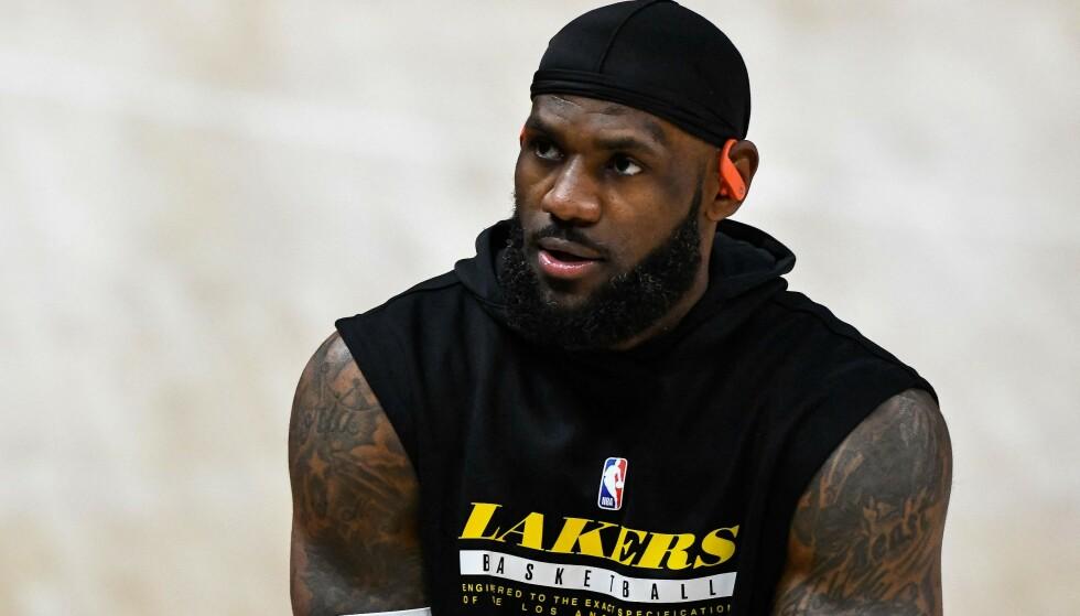 HUDFLETTES: Los Angeles Lakers-stjerne LeBron James. Foto: Alex Goodlett / GETTY IMAGES / AFP / NTB
