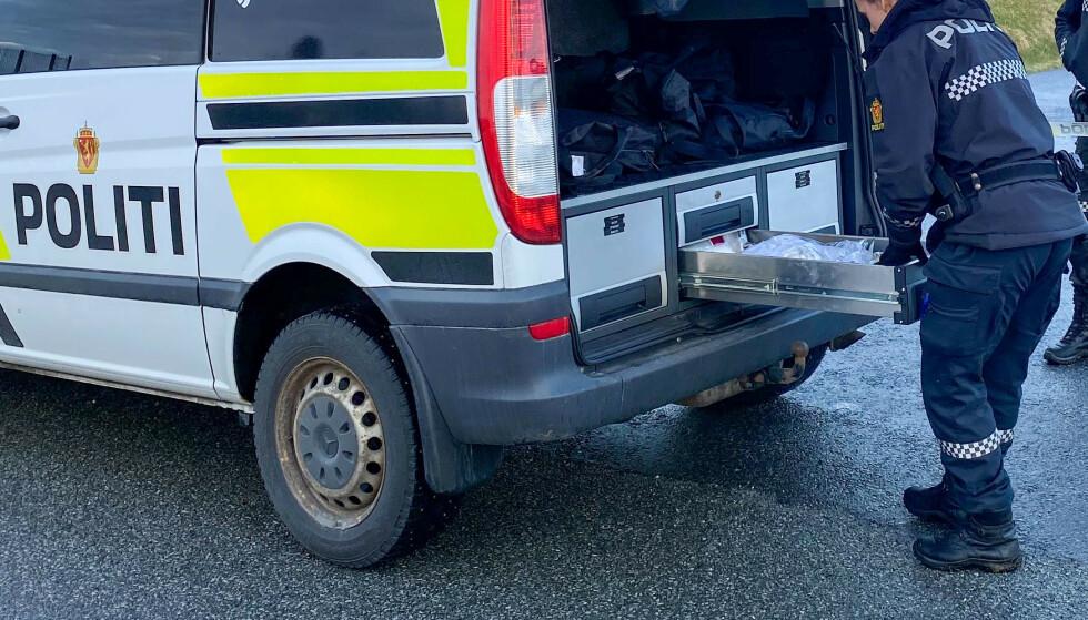 FUNNET DØD: Politiet har startet drapsetterforskning, etter at en kvinne ble funnet død på Varaldsøy i Kvinnherad torsdag kveld. Foto: Gunn-Bente Stølen, Grenda / NTB