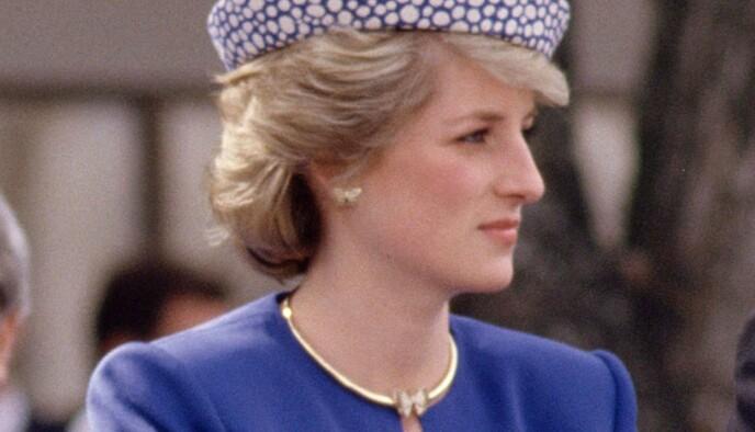 1986: Den samme ørepynten hadde prinsesse Diana på seg under en tur til Canada i 1986. Foto: John Shelley / REX / NTB